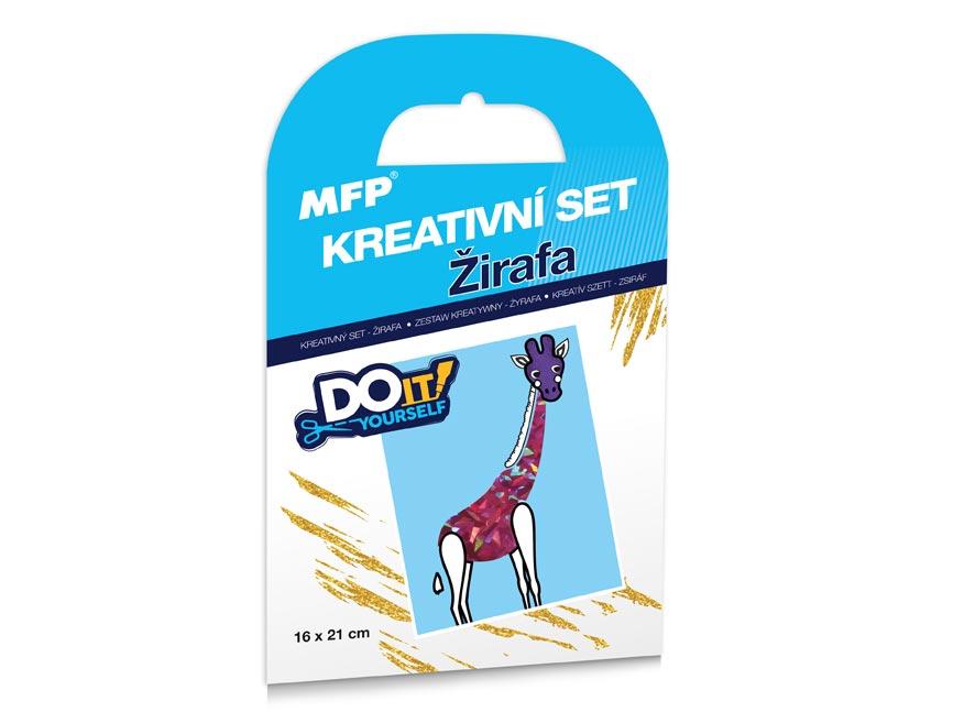 kreatívny set - Žirafa - fóliová technika 1041993