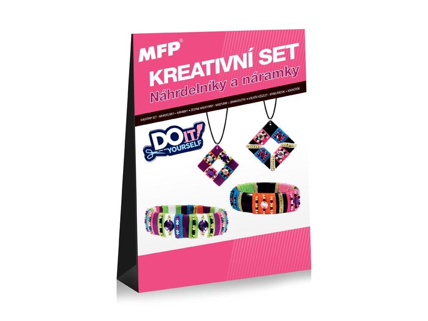 MFP 1041998 kreatívny set - Náhrdeľníky + Prstienky - 2 + 2 ks