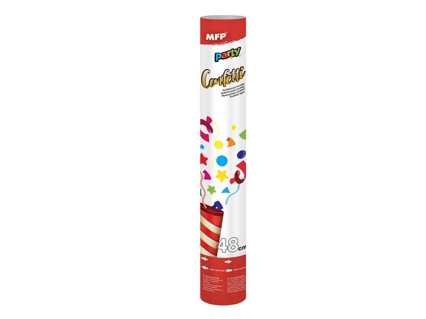 konfety vystrelovacie 48cm papier - vzduch 1042013