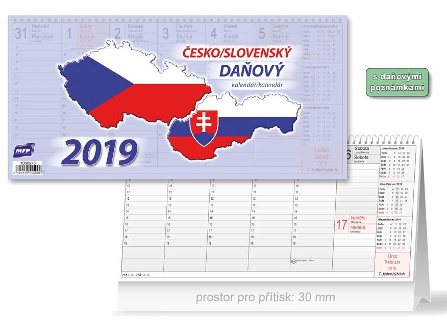 Kalendár 2019 stolový Česko/slovenský