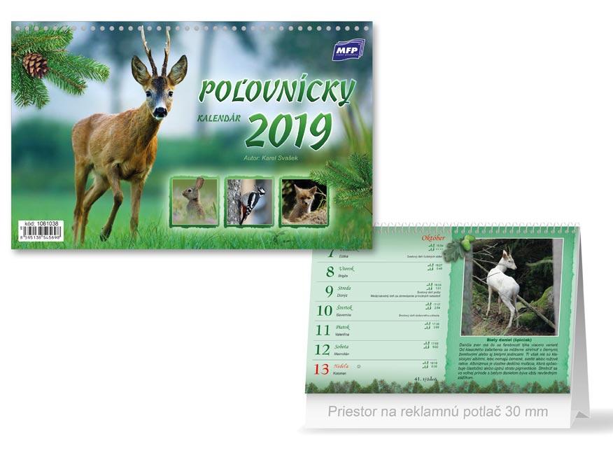 f40fb4d3d SK Kalendár 2019 stolový Poľovnícky | MFP papier s.r.o.