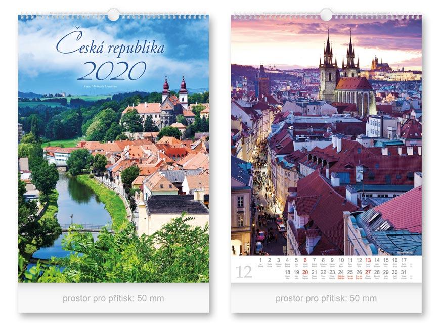 Kalendár 2020 nástenný Česká republika