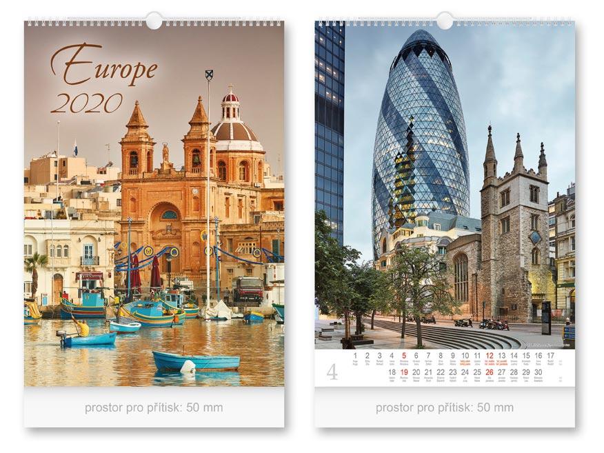 Kalendár 2020 nástenný Europe
