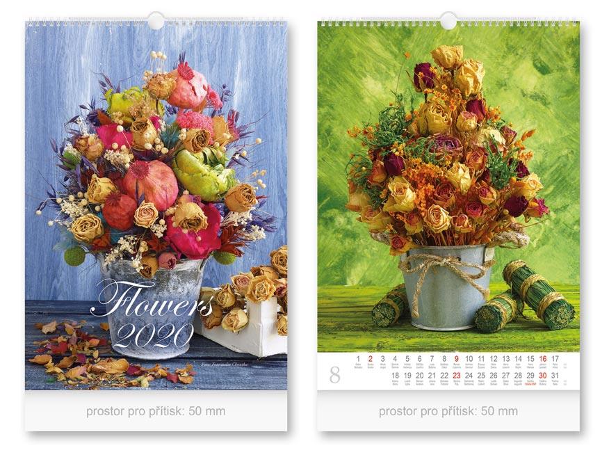 Kalendár 2020 nástenný Flowers