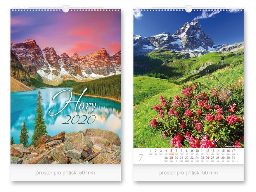 Kalendár 2020 nástenný Hory