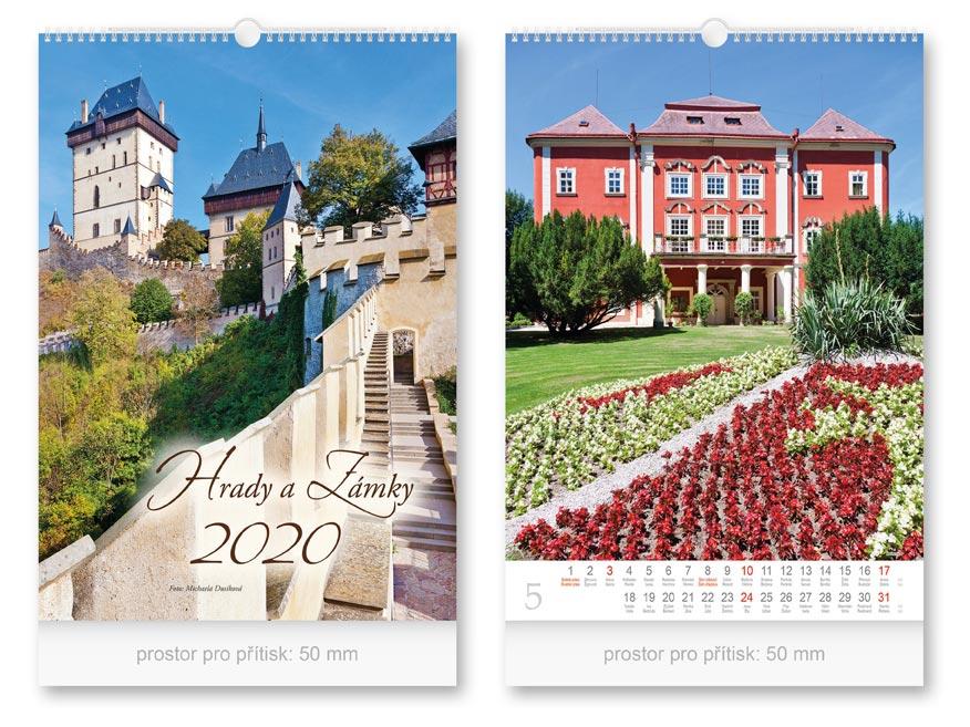 Kalendár 2020 nástenný Hrady a zámky