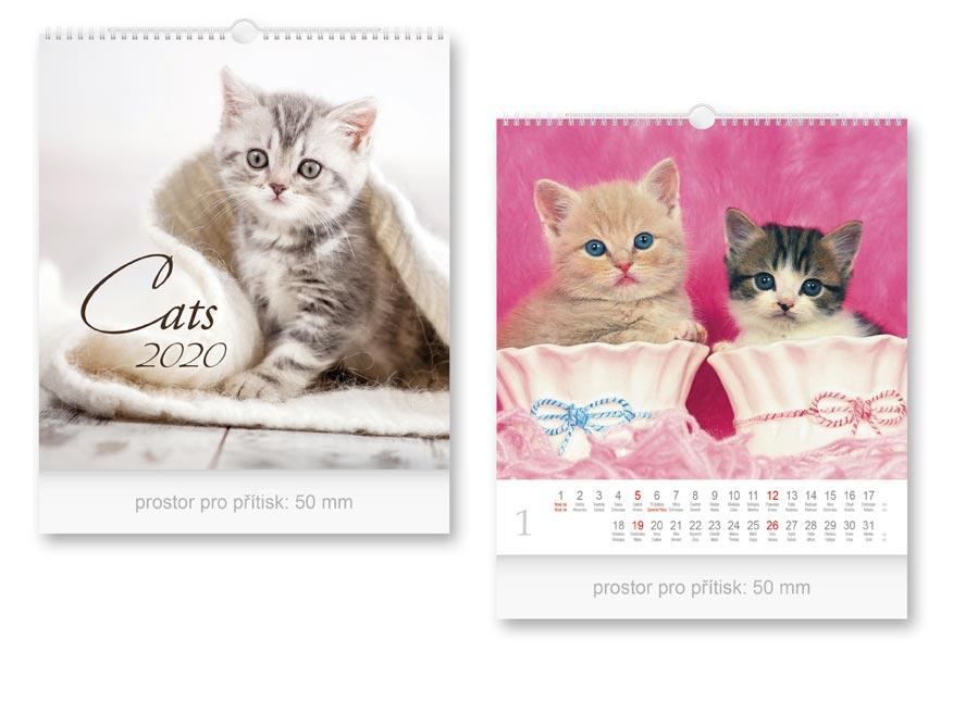 Kalendár 2020 nástenný malý Cats