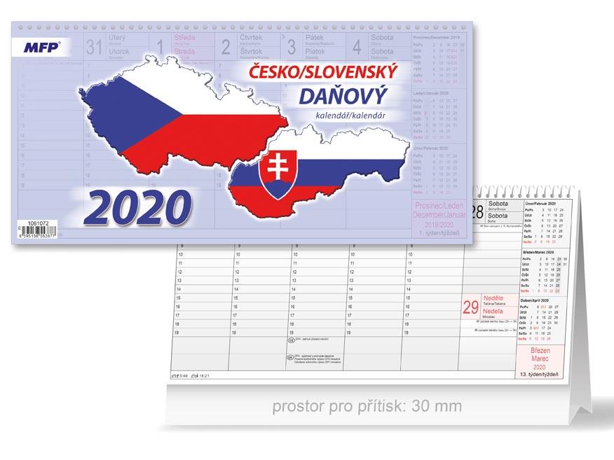 Kalendár 2020 stolový Česko/slovenský