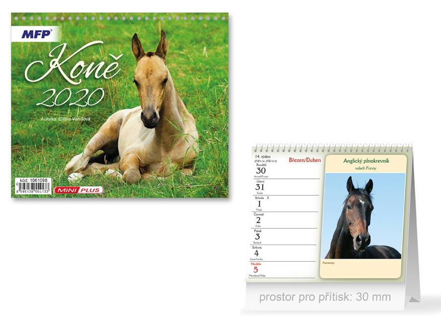 Kalendár 2020 stolový mini koňe