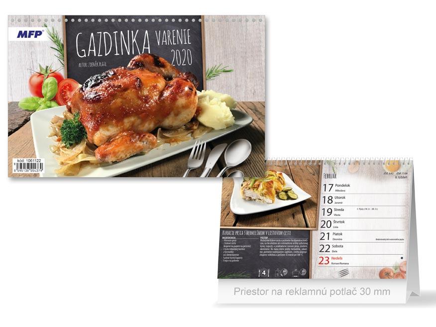SK Kalendár 2020 stolový Gazdinka - varenie