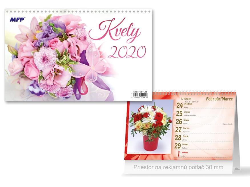 SK Kalendár 2020 stolový Kvety