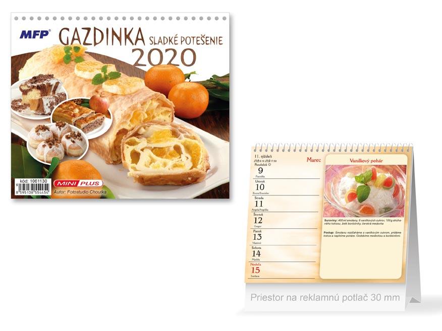 SK Kalendár 2020 stolový mini Gazdinka - sladkej potešenie