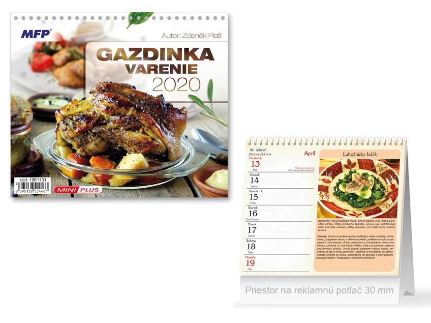 SK Kalendár 2020 stolový mini Gazdinka - varenie