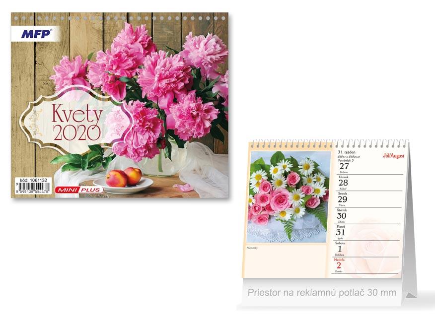 SK Kalendár 2020 stolový mini Kvety