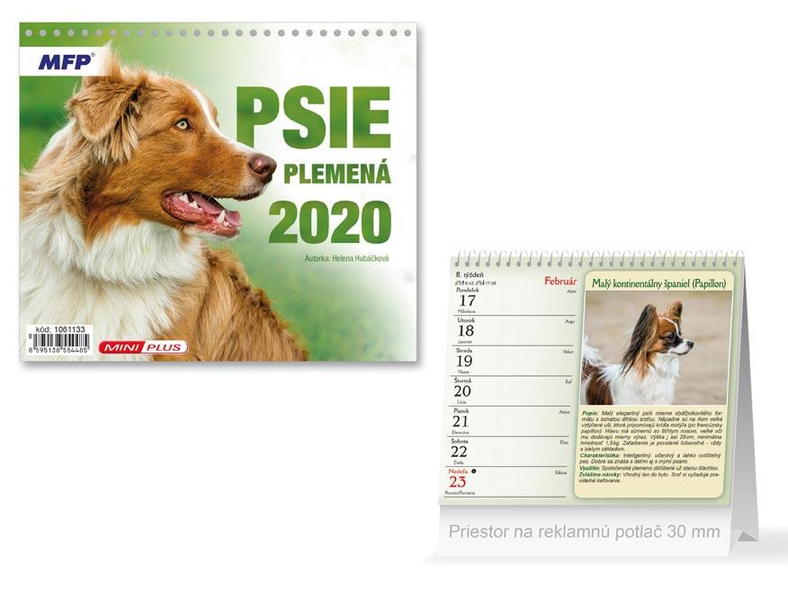 SK Kalendár 2020 stolový mini Psie plemená