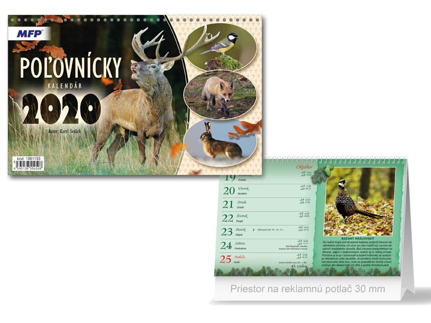 SK Kalendár 2020 stolový Poľovnícky