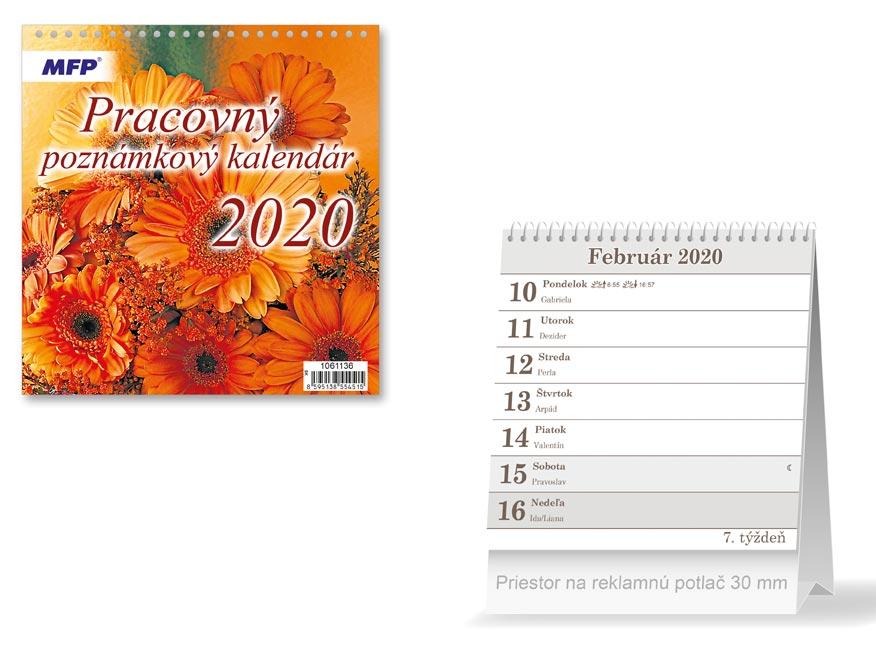 SK Kalendár 2020 stolový Pracovný - poznámkový