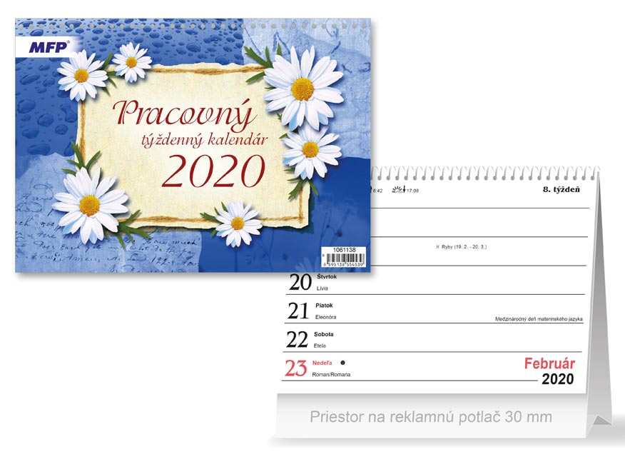 SK Kalendár 2020 stolový Pracovný - týždenný
