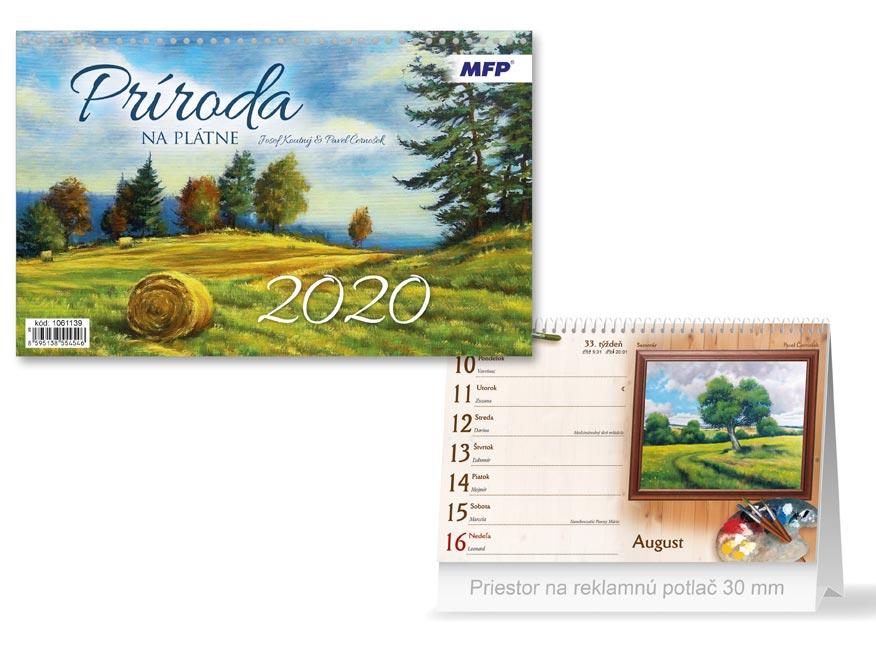 SK Kalendár 2020 stolový Príroda na plátne
