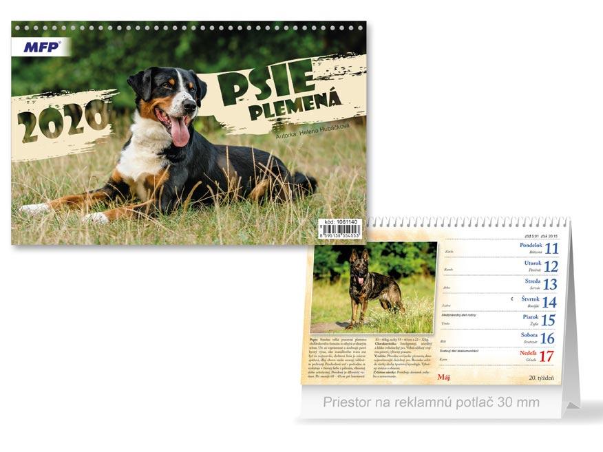 SK Kalendár 2020 stolový Psie plemená