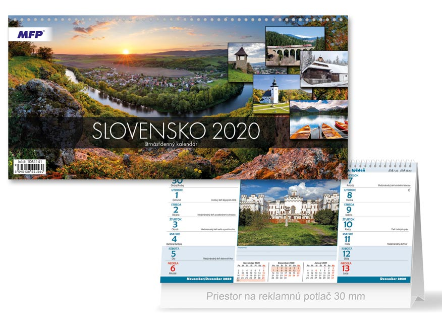 SK Kalendár 2020 stolový Slovensko (štrnásťdenný)