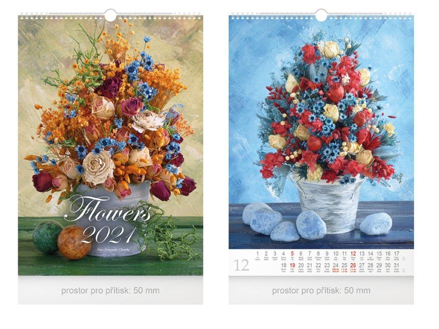 Kalendár 2021 nástenný Flowers