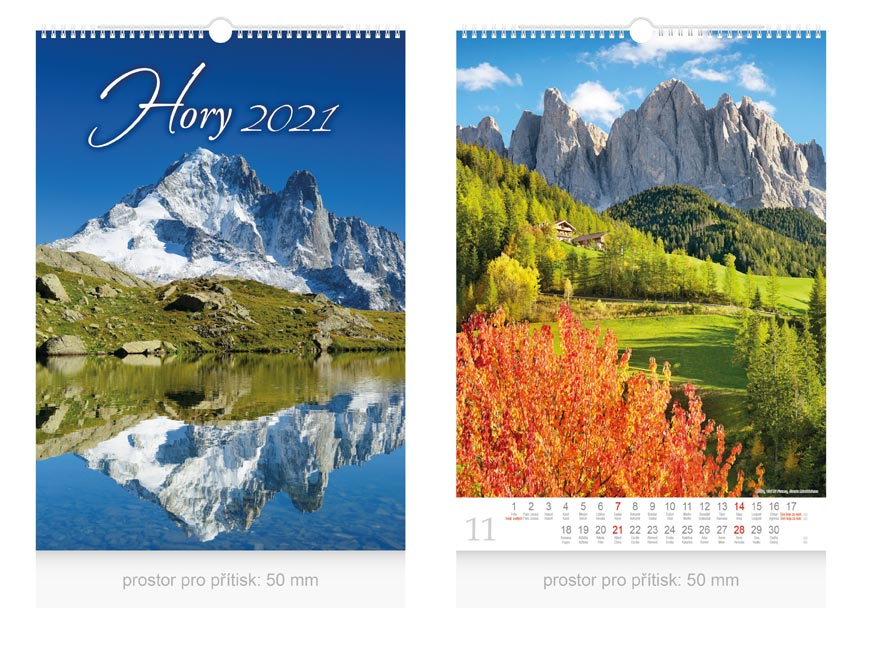 Kalendár 2021 nástenný Hory