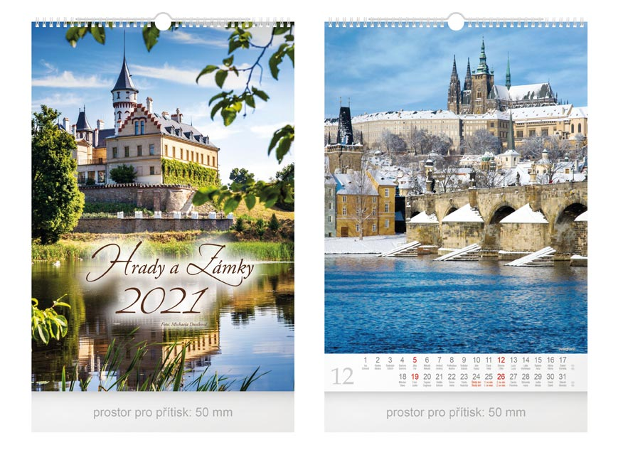 kalendár 2021 nástenný Hrady a zámky 1061153