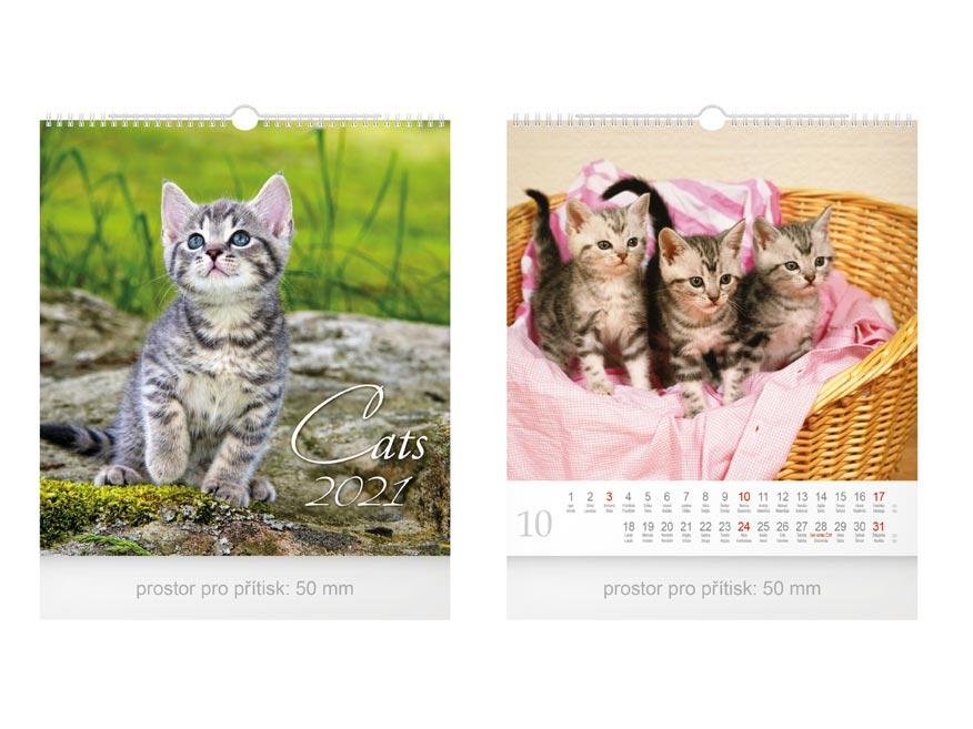 Kalendár 2021 nástenný malý Cats