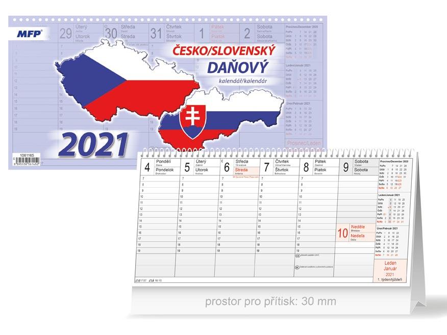 kalendár 2021 stolový Česko/slovenský 1061165