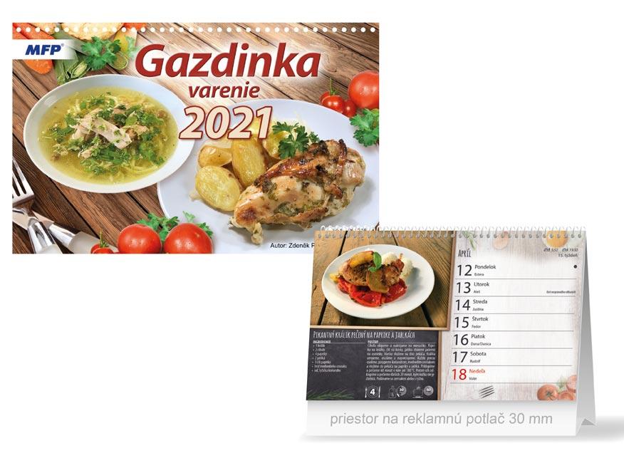 SK Kalendár 2021 stolový Gazdinka - varenie