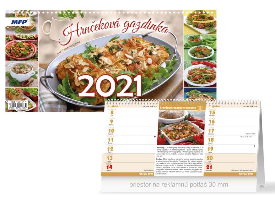 sK Kalendár 2021 stolový Hrnčeková gazdinka (štrnásťdenný) 1061217