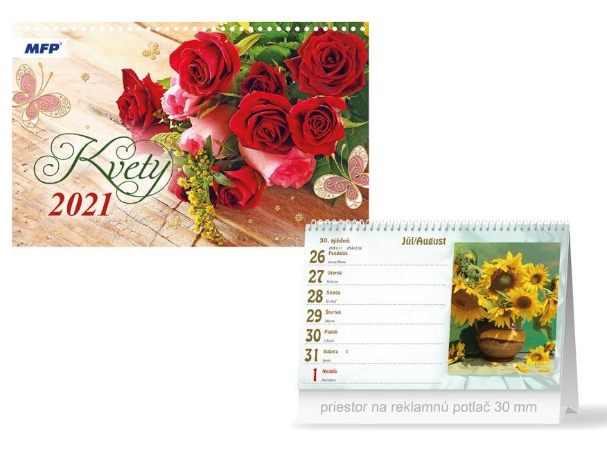 sK Kalendár 2021 stolový Kvety 1061220
