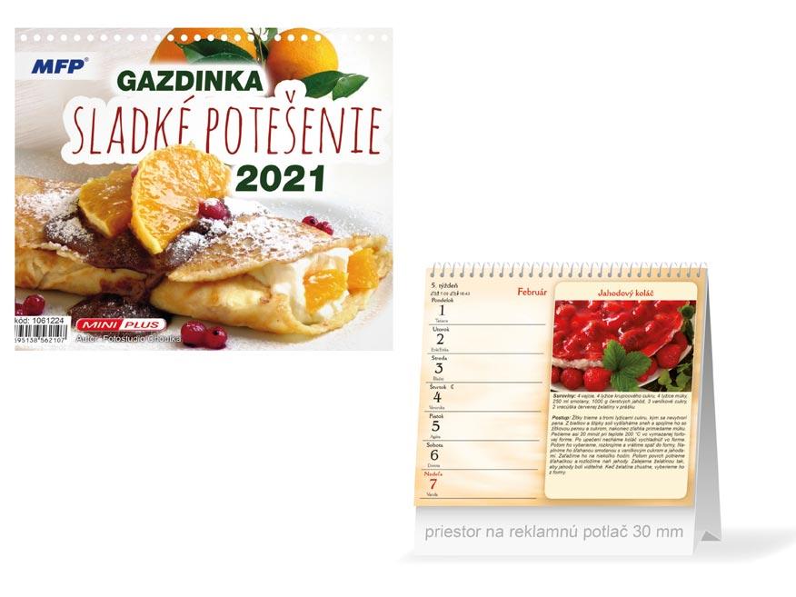 SK Kalendár 2021 stolový mini Gazdinka - sladké potešenie