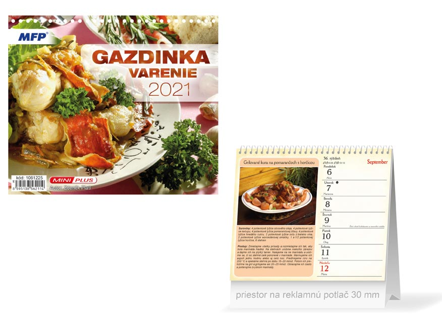 sK Kalendár 2021 stolový mini Gazdinka - varenie 1061225