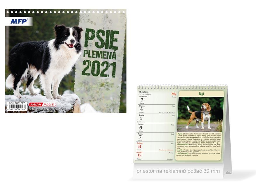 SK Kalendár 2021 stolový mini Psie plemená