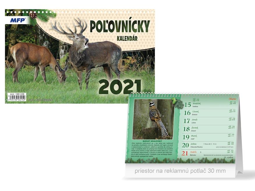 sK Kalendár 2021 stolový Poľovnícky 1061229