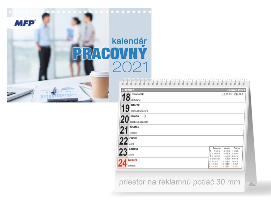 sK Kalendár 2021 stolový Pracovný - pracovný 1061231
