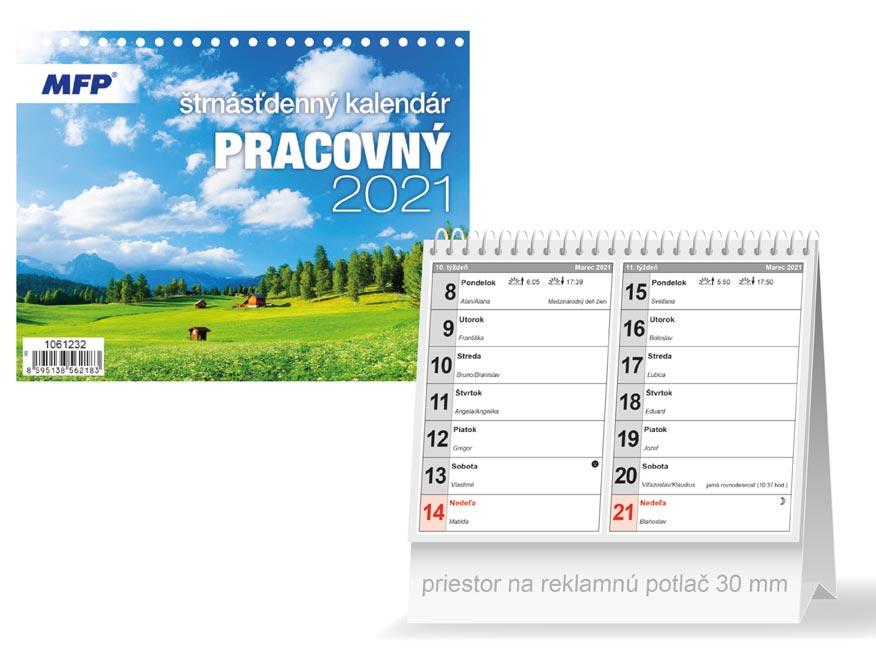 sK Kalendár 2021 stolový Pracovný - štrnásťdenný 1061232