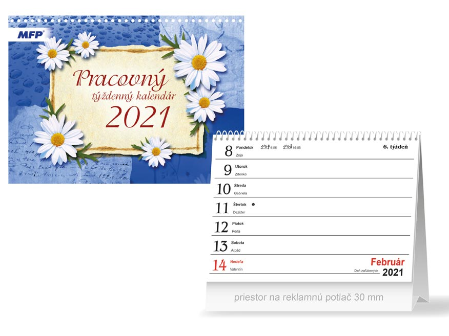 sK Kalendár 2021 stolový Pracovný - týždenný 1061233