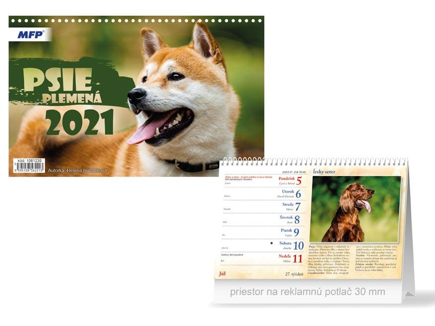 sK Kalendár 2021 stolový Psie plemená 1061235