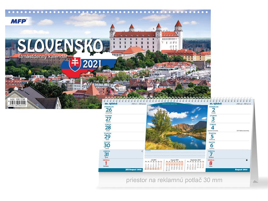 SK Kalendár 2021 stolový Slovensko (štrnásťdenný)