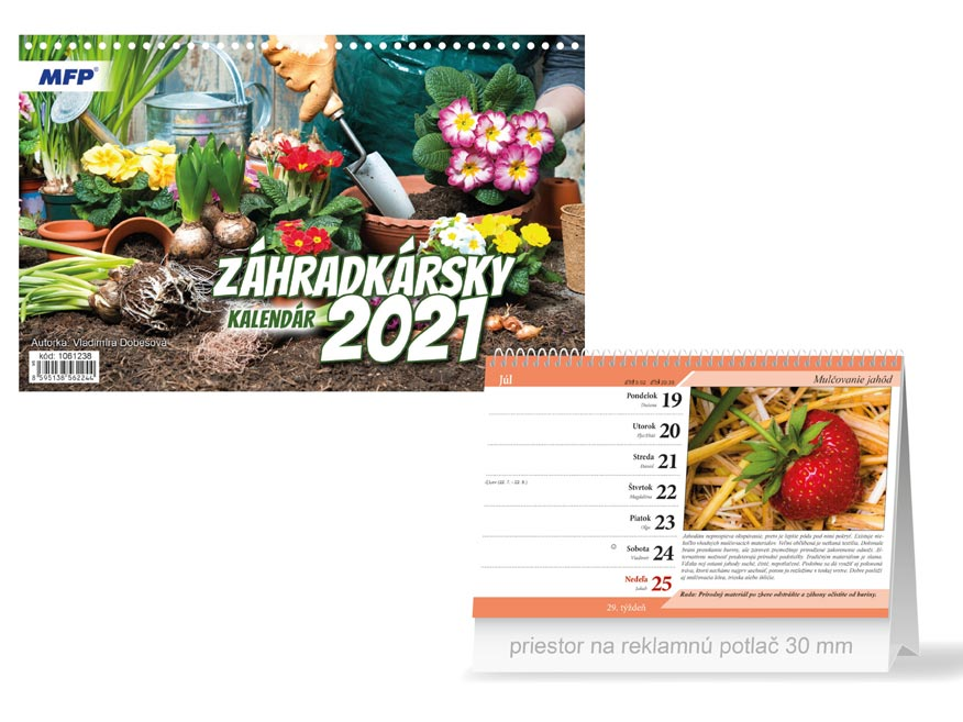 SK Kalendár 2021 stolový Záhradkársky