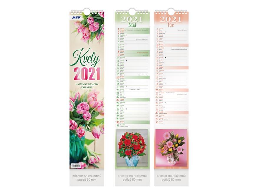 SK Kalendár 2021 viazankový Kvety - mesačný