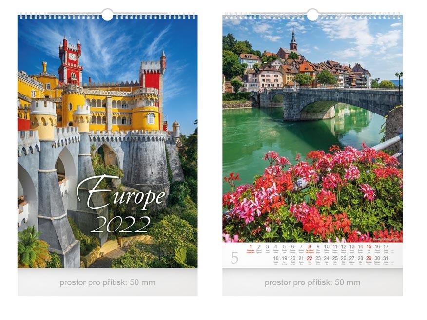 kalendár 2022 nástenný Europe 1061245