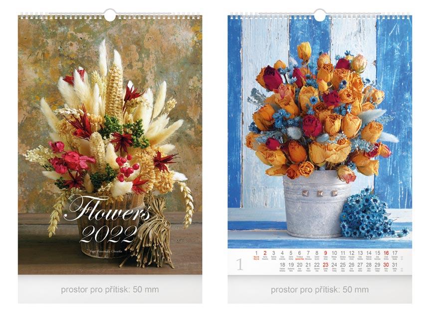 kalendár 2022 nástenný Flowers 1061246