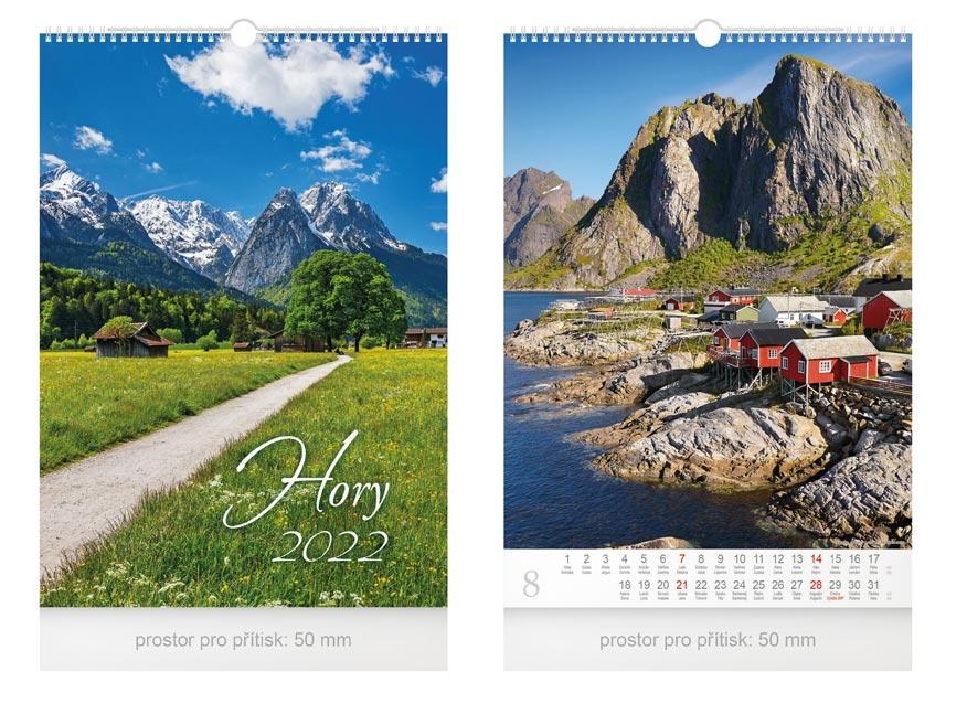 kalendár 2022 nástenný Hory 1061247
