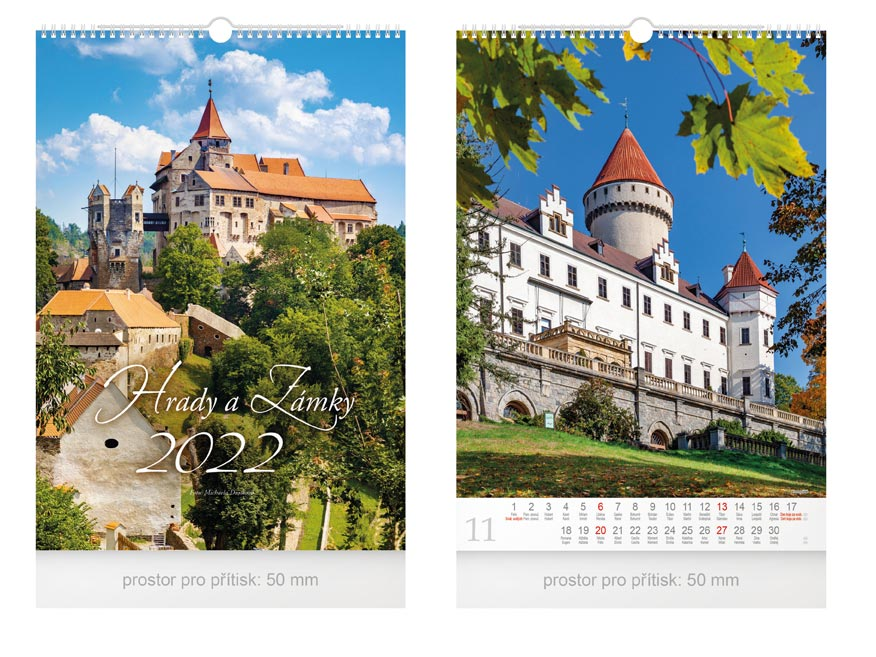 kalendár 2022 nástenný Hrady a zámky 1061248