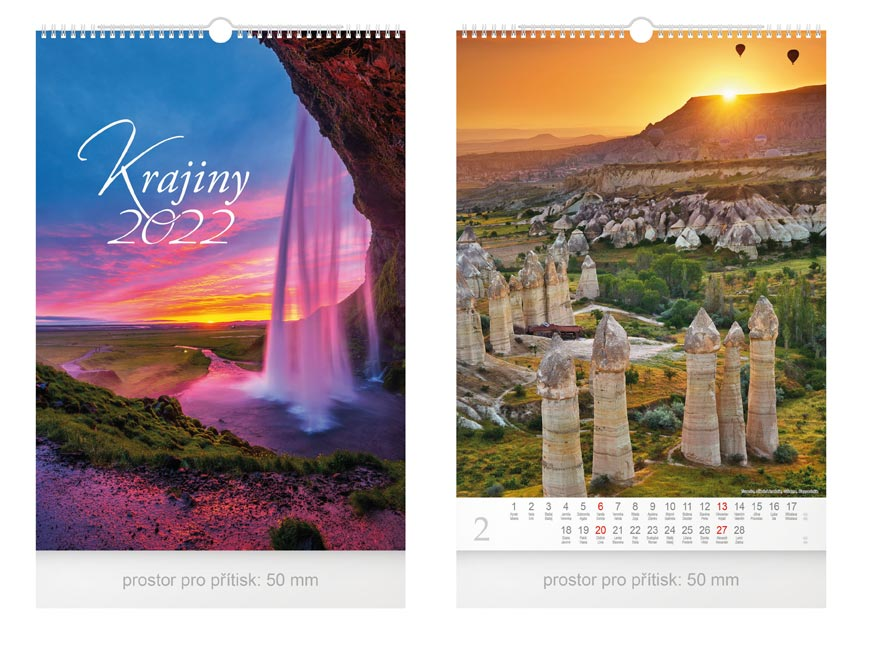 kalendár 2022 nástenný Krajiny 1061249