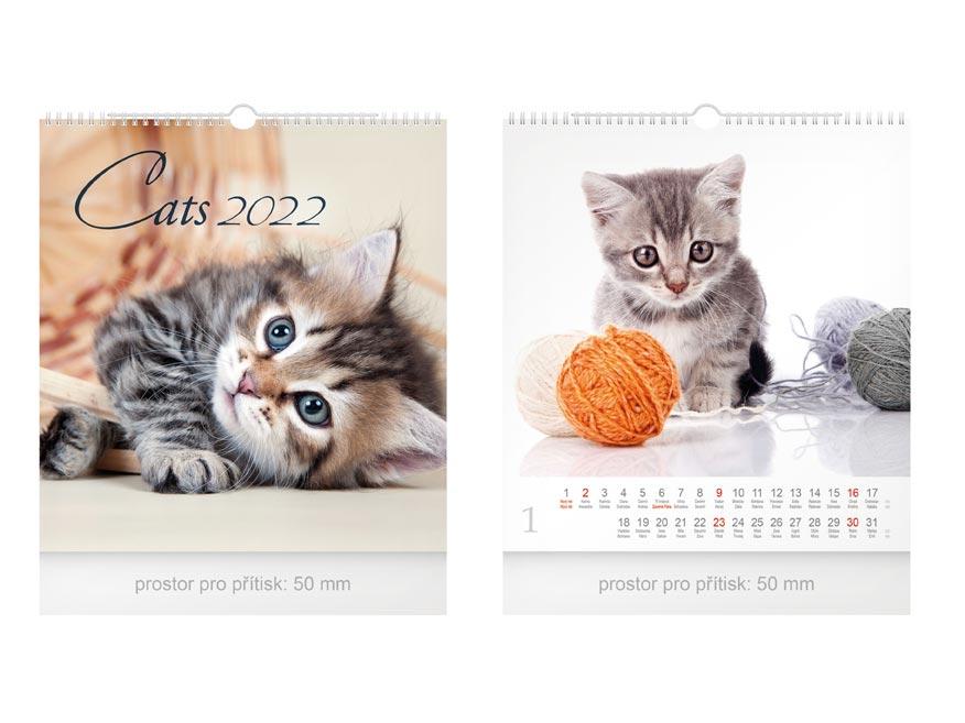 kalendár 2022 nástenný malý Cats 1061250